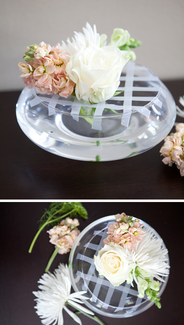 DIY flower arrangement