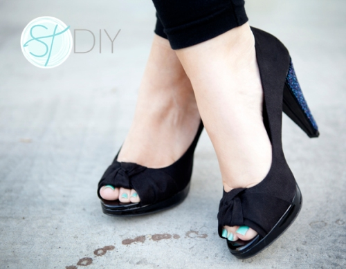 DIY Beaded High Heels via Something Turquoise