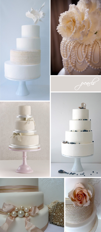 Pearl & Lace wedding cakes via Something Turquoise