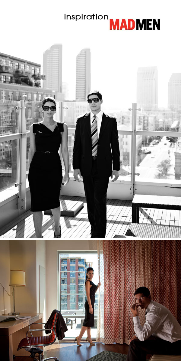 Mad Men Style Engagement Session by Scott Lawrence Photographs