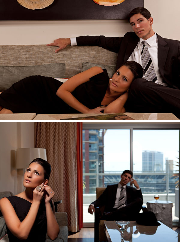 Mad Men style engagement shoot by Scott Lawrence