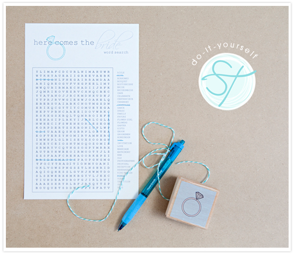 personalized bridal word search