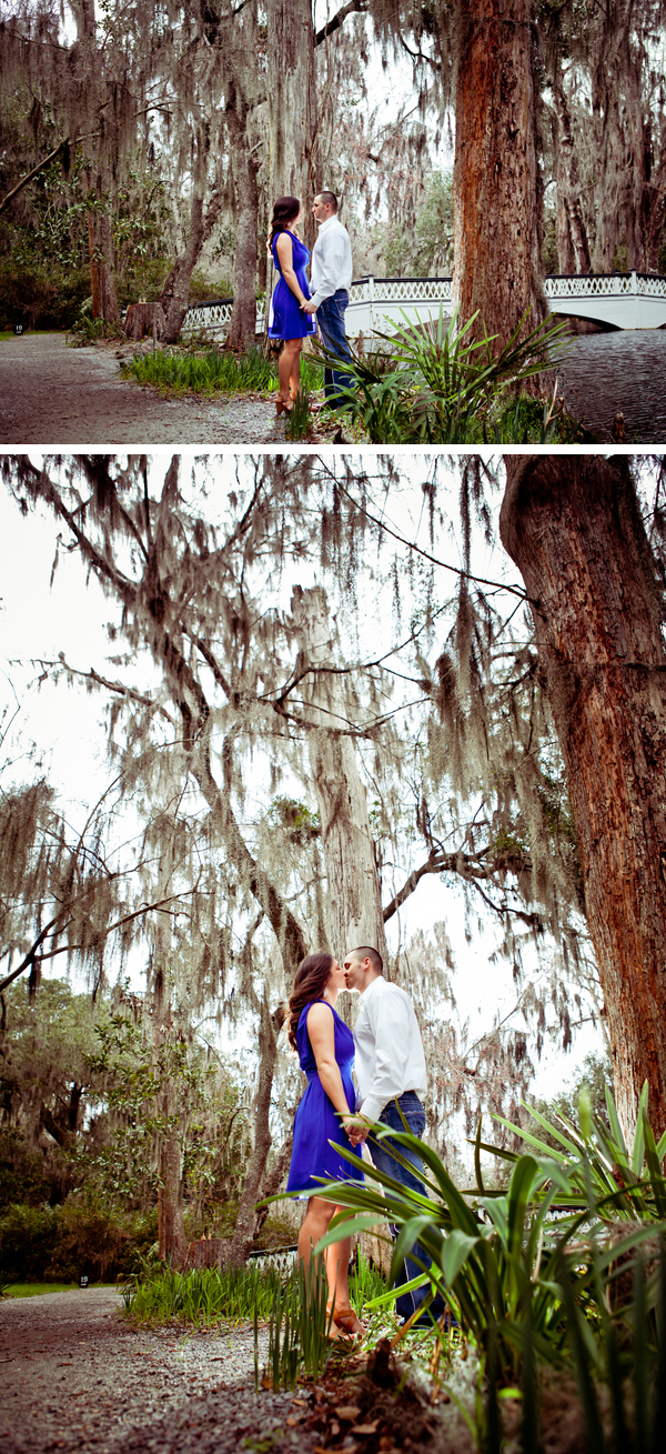 romantic outdoor engagement shoot