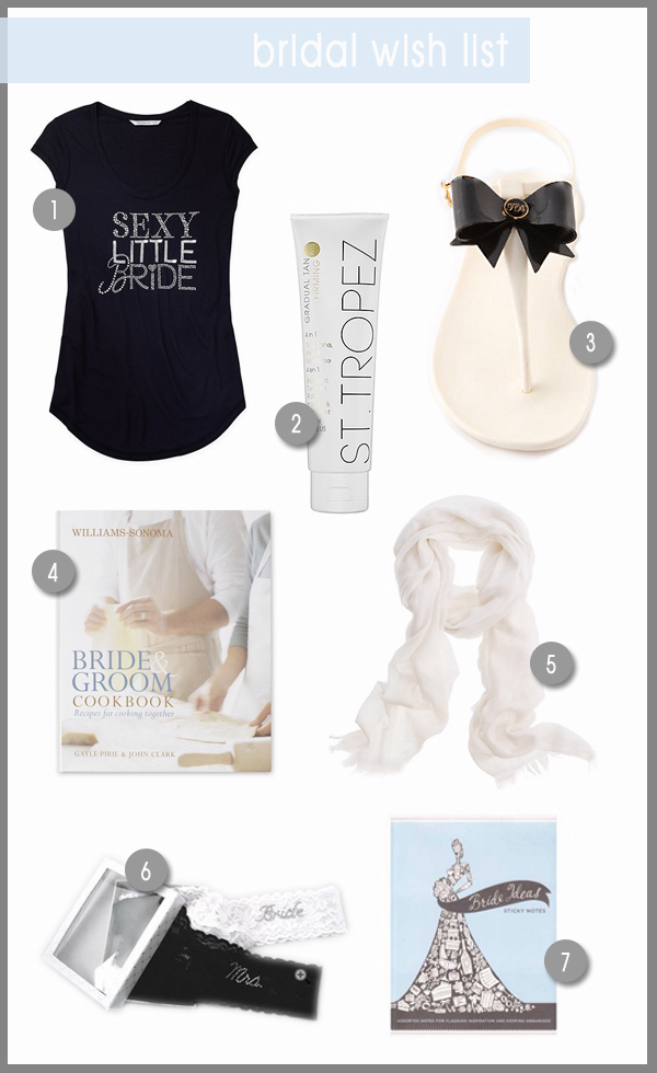 Different Wedding Gift List : ... are the bride? here are 7 fun gifts at the top of my bridal list